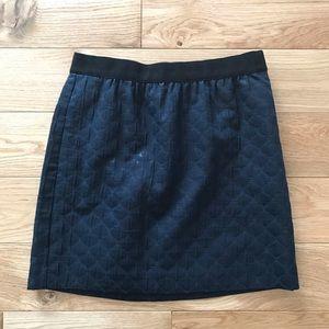 Loft mini skirt side pockets navy blue
